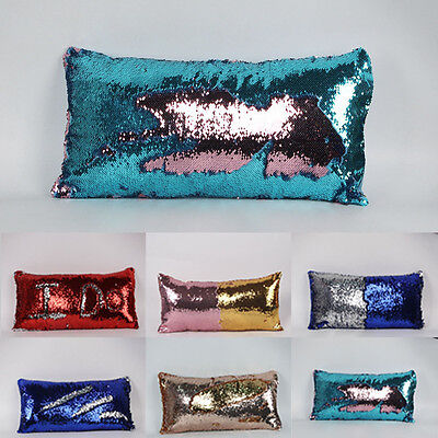 Magic Mermaid Pillow Cover Glitter Sofa Cushion Case New Style Double Color