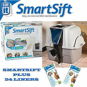 FREE SHIPPING Complete Value Pack Catit SmartSift Hooded Cat Litter Tray Toilet