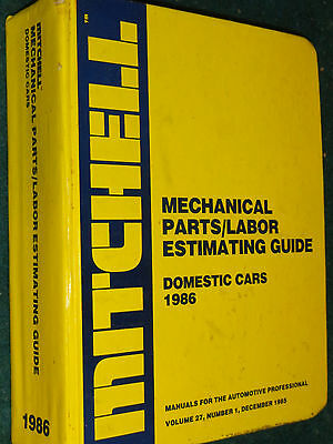 1974-1986 Chevy Ford Camaro Vette Mustang Firebird+ Flat Rate & Parts Manual