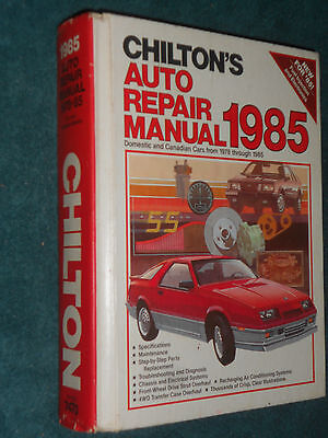1978-1985 Chevy Ford Camaro Vette Mustang Cadillac Olds++Chiltons Shop Manual