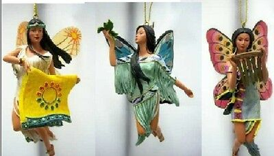Spirit of the Butterfly Fairy Ornaments Set 10 Native Fairy - Bradford Exchange