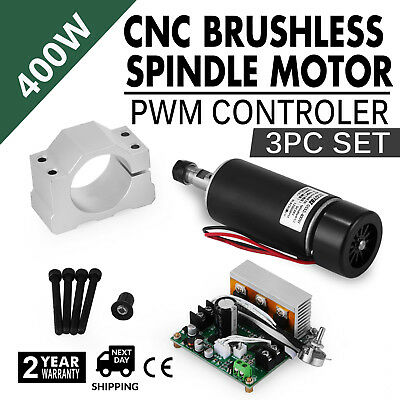 CNC 400W Brushless Spindle Motor 3pcs Set ER11 12000RPM Mute BEST PRICE ON SALE