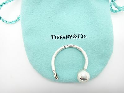 Authentic Tiffany & Co. Sterling Silver/925 Round Horseshoe Key Ring-