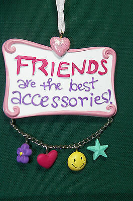 Friends Are The Beat Accessories Christmas Tree Ornament with happy face charms