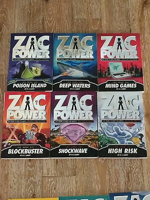 Full 25 book series Zac Power   Mega Missions  Extreme missions