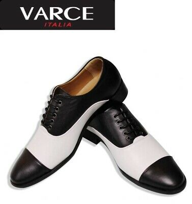 Varce Italia Lace Up Black and White Shoe
