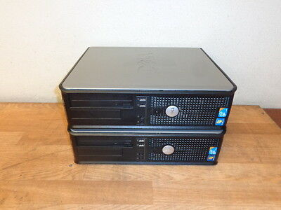 One Lot of 2 DELL OPTIPLEX 780 DCNE1F Core 2 Duo 3GHz 250 GB HD 2 GB RAM DVDRW