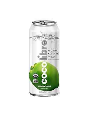 CoCo Libre Organic Coconut Water, Original, 15 Ounce (Pack of 12)