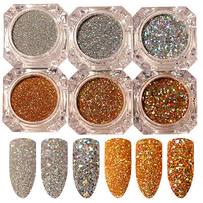 BORN PRETTY Nail Glitter Sequins Paillette Powder Holographic Laser Nail Art DIY