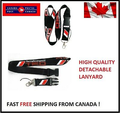 TRD JDM TOYOTA supra BLACK Lanyard Neck Cell Phone Key Chain Strap Quick Release