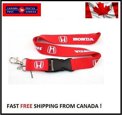 Honda Civic  Accord MUGEN RED Lanyard  Cell Phone Key Chain Strap Quick Release