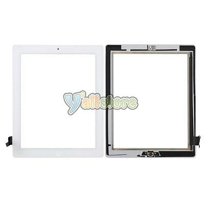Touch Screen Glass White Digitizer + Home Button for iPad 2 A1395 A1397 A1396