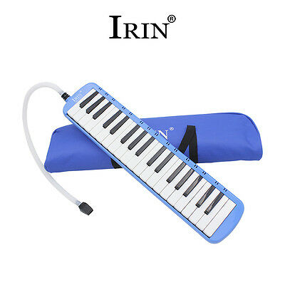 New IRIN 37 Piano Keys Melodica For Beginner with Carrying Bag Blue