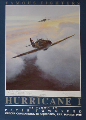 Famous Fighters:Hurricane 1, signed Group Captain Peter Townsend CVO, DSO, DFC.