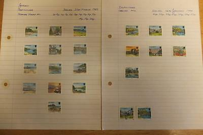 Jersey Stamps-Definitives-Scenes Today-1989-1990-Mint Lightly Hinged