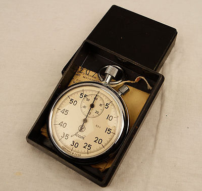 # AGAT STOPWATCH USSR vintage mechanical with box 2 buttons