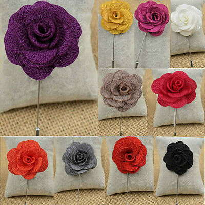 Handmade Flower Daisy Boutonniere​ Brooch Lapel Pin Accessories For Men's Suit