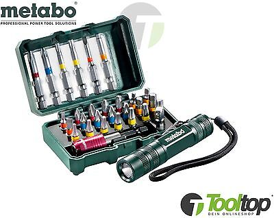 Metabo Bit Set Box SP 29 teilig +LED Lampe Promotion 626721000