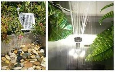 FOUNTAIN 10W SOLAR POND PUMP 610LPH DRY RUN BATTERY BACKUP LED LIGHT with FILTER