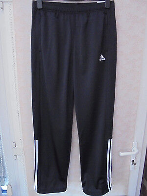 MENS ADIDAS TRACKSUIT BOTTOMS BLACK SIZE 42 / 44 (ref 414) NEW