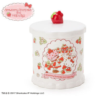 Porcelain Cosmetics Cotton Case Hello Kitty Strawberry Shortcake ❤ Sanrio Japan