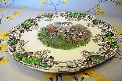 "Vintage SPODE COPELAND BYRON segmented divided cake / sandwich serving 10"" PLATE"