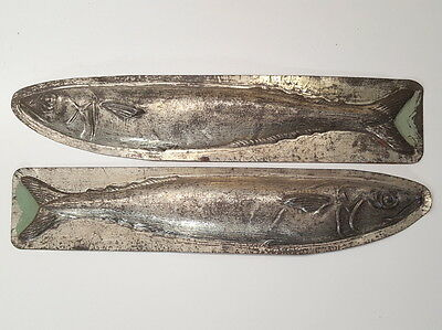 ANTIQUE VINTAGE FRENCH CHOCOLATE MOLD Long fish 14.25 inches