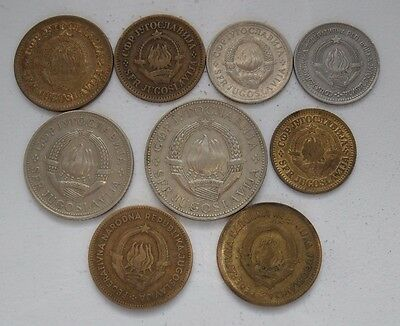 9x coins from Yugoslavia