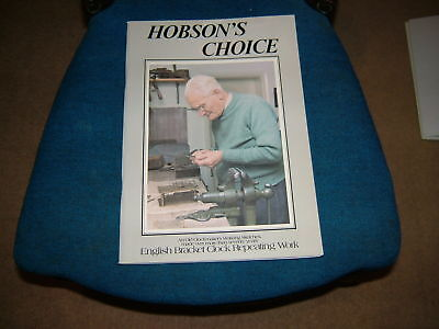 New,hobsons Choice,antique Bracket Mantel Clock Repeating ,book