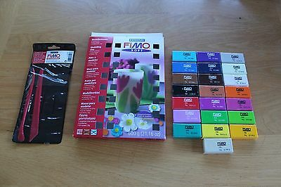 FIMO Soft Modelling Clay x22 and Modelling Tools x2