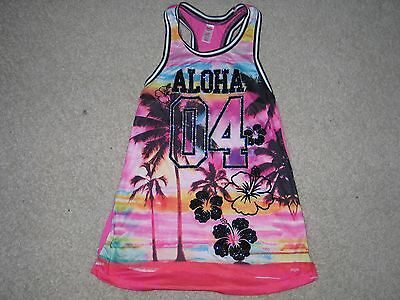NEW Girls Size 6 7 JUSTICE Tropical Tank Swimsuit Cover-Up NWT