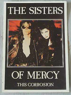 Carte Postale Postcard - THE SISTERS OF MERCY - This Corrosion -