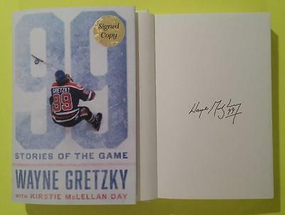 Wayne Gretzky 99 Stories Of The Game Hardcover Book 1/1 -Auto-Pen Signed Edition