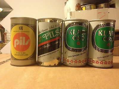 5 old beer cans from Holland