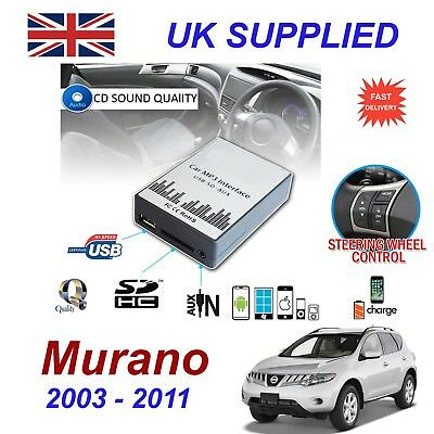 For Nissan MURANO MP3 SD USB CD AUX Input Audio Adapter CD Changer Module