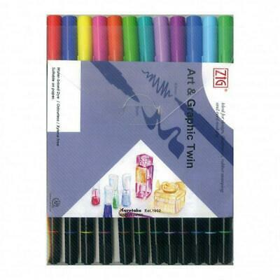 Art & Graphic Twin Coloured Pens - Zig Free Shipping!