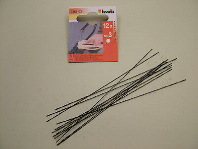Fret saw blades woodworking, German made ,pack of 12 round, spiral toothed