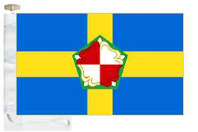 Pembrokeshire Sir Benfro County Courtesy Boat Flag Roped & Toggled