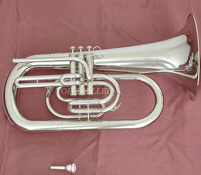 Professional JINBAO Marching Euphonium Silver Nickel Horn Bb Key With Case
