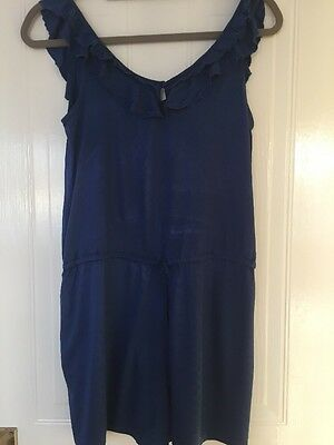 Zara Playsuit Jumpsuit All In One Beach Holiday Size M Stretch Comfort