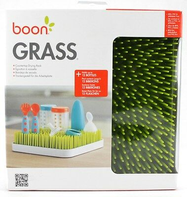 Boon Grass Countertop Drying Rack Holds 12 Bottles & Accessories NEW
