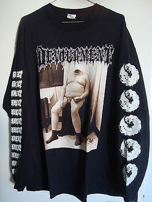 DEVOURMENT molesting the decapitated t shirt XL size gorgasm cannibal corpse