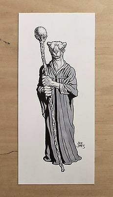RPG fantasy  **ORIGINAL ART**  Opinicus from a SWORD & SORCERY monster manual