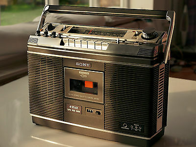 SONY CF-580 Boombox SERVICED Good Condition