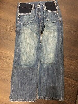 Dorothy Perkins Size 10 Maternity Wide Leg Jeans