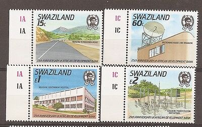 Swaziland 1989 Development Bank Set SG561-4 plate single Mint Never Hinged w8872