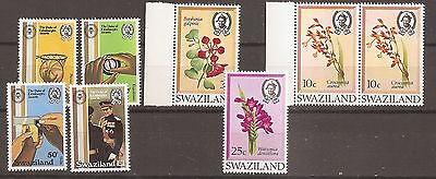 Swaziland 1981 Duke of Edinburgh + 1971 Flowers stamps Mint Never Hinged w8878