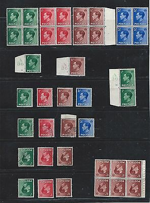 1936 King Edward VIII Collection MNH/VFU incl Watermark Inverted & CONTROLSw8906