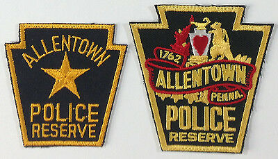 2 different ALLENTOWN, PENNSYLVANIA ** POLICE RESERVE ** patches