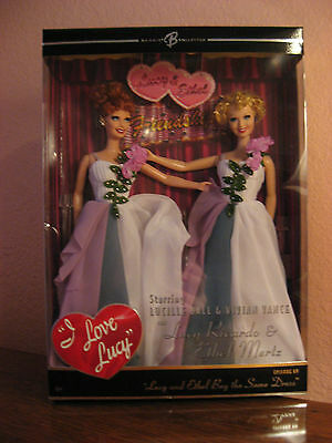Lucy and Ethel buy the same dress, Barbie dolls, Never displayed, NRFB, Mint!